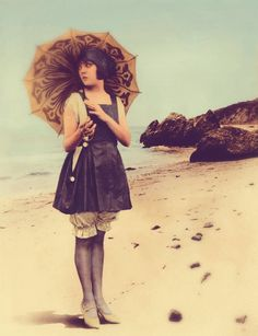 """"""" Silent film actress Lila Lee at the beach c. 1920s Original (x) Requested by carmineclock """""""