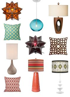 A selection of lamps and cushions for your moroccan inspired home!