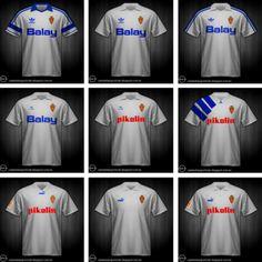 Así han cambiado las camisetas del Real Zaragoza   Noticias de Real Zaragoza en Heraldo.es