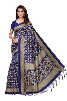 Blue Mysore silk saree