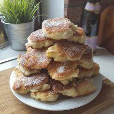 Moje Wypieki | Racuchy drożdżowe Polish Recipes, Polish Food, Tortellini, Breakfast Recipes, Pancakes, French Toast, Recipies, Deserts, Food And Drink