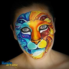 Animal Face Paintings, Funny Paintings, Animal Faces, Drawing Artist, Painting & Drawing, Butterfly Face Paint, Adult Face Painting, Kids Makeup, Face Painting Designs