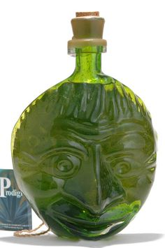 prodigio reposado tequila - mask - art glass