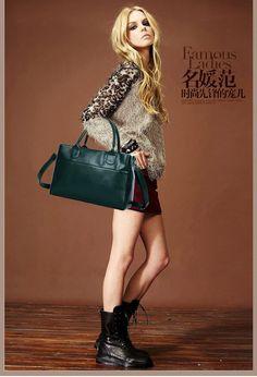 Hot selling!2014 Genuine Leather handbags shoulder bag handbag Messenger bag casual bag female models handbag 6 colors SD-083 - Fashionaudience.com