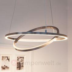 LED-Hängeleuchte Lovisa mit zwei LED-Ringen sicher & bequem online bestellen bei Lampenwelt.de.