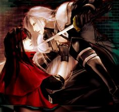 Vincent Valentine and Sephiroth