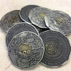 Oceanscape | fantasy coinage by Rare Elements Foundry