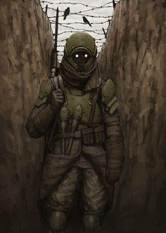 Trench Soldier, Ariel Perez on ArtStation at https://www.artstation.com/artwork/yorgJ