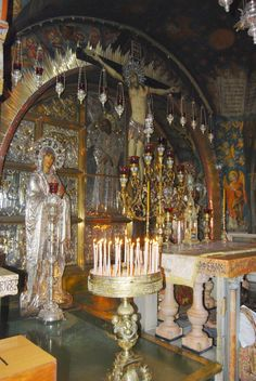 Church of Holy Sepulchre (Israel): One of the most holiest churches, located in Jerusalem at the traditional site of Golgotha - the place of Jesus Crucifixion and burial.