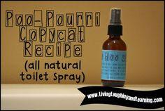 Poo-Pourri Spray copycat recipe - a lot cheaper and it works!