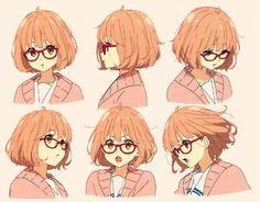 mine knk long post Beyond the Boundary Kyoukai no Kanata mirai kuriyama kuriyama mirai bleh first edits in a long time Character Model Sheet, Female Character Design, Character Modeling, Character Drawing, Pelo Anime, Anime Manga, Anime Art, Female Characters, Anime Characters