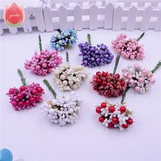 10 pcs busa karangan bunga sutra benang sari handmade berry bunga buatan dekorasi pernikahan diy kotak hadiah scrapbooking kerajinan bunga palsu