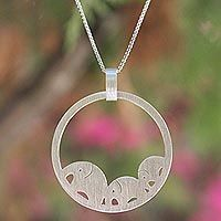 Discover unique handcrafted treasures. Every purchase will help UNICEF save and improve children's lives and help support talented artisans. Sterling silver pendant necklace, 'Elephant Journeys'