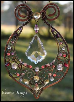 Wire+Wrapped+Fine+Multi+Gemstone+and+Crystal+Indian+by+CathyHeery,+$160.00