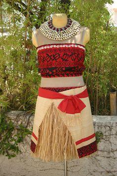 Moana Sets Sail Custom Cosplay Designs For Both Big Girls Hawaiian Girls, Hawaiian Clothes, Polynesian Girls, Grass Skirt, Island Wear, Culture Clothing, Empire Style, Drawing Clothes, Island Girl