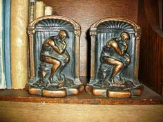 Vintage Bookends The Thinker by RedRiverAntiques, $35.00
