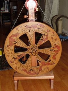 Ravelry: Kiwi Spinners discussion topic - Painted spinning wheel photo album