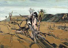 Allison Schulnik, Burned Tree #3 (Joshua), 2008