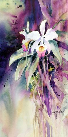 Watercolor Artist Directory | Rain Forest by Julie Gilbert Pollard, watercolor painting on canvas 24 ...