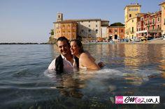 Trash the dress in the fabulous Baia del Silenzio in Sestri Levante