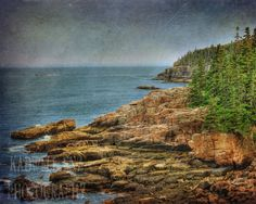 Looking Out to Sea Fine Art Photography Acadia by KEnzPhotography