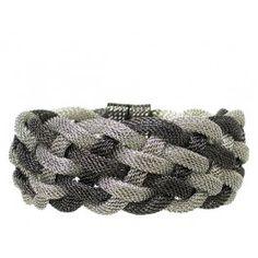 Hematite Braided Bracelet