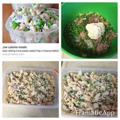 Tuna pasta salad so very good