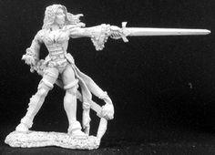Lonnia, Female Duelist by Gene Van Horne, Reaper Minis