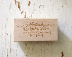 return-address stamp, perfect gift for brides