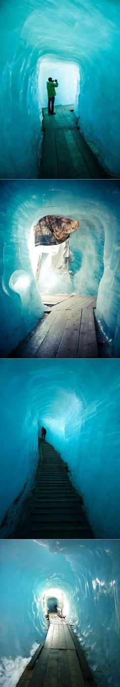 The Rhone Glacier in the Swiss Alps // für immer, Fernweh Places To Travel, Places To See, Travel Destinations, Dream Vacations, Vacation Spots, Places Around The World, Around The Worlds, Reisen In Europa, Bahamas