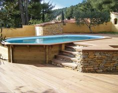 Halb achteckiges achteckiges Holzschwimmbad Toulon Var La Garde Hyeres Bandol & The post Halb achteckiges achteckiges Holzschwimmbad Toulon Var La Garde Hyeres Band & appeared first on Christin Freud. Above Ground Swimming Pools, Swimming Pools Backyard, Swimming Pool Designs, In Ground Pools, Piscina Pallet, Oberirdische Pools, Best Above Ground Pool, Above Ground Pool Landscaping, Deck Landscaping