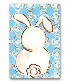 Look at this #zulilyfind! Bunny Silhouette Flag by Magnolia Lane #zulilyfinds