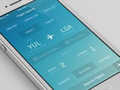Dribbble - iOS7 Flight App by Alexander Haniotis