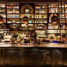 """Momus on Instagram: """"O Momus está de portas abertas para recebê-los no almoço, jantar ou aquele happy hour inesquecível. Venha celebrar conosco! O…"""" Bourbon Tour, Happy Hour, Bali, Back Bar, Industrial, Elle Decor, Restaurant Bar, Night Club, Liquor Cabinet"""