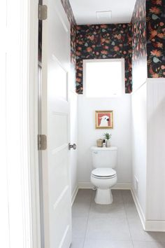 Wallpapering the Powder Room with Photowall Wallpaper