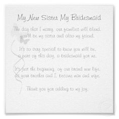 Best Bridesmaid Thank You Gifts Images On Pinterest - Will you be my bridesmaid letter template