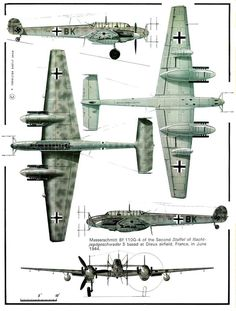 Fighters Bf110 nocne