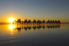 Sunset Reflection by nicken - Resource Travel Inspiration Photo Contest Sunset Photos, Beach Photos, Australia Tours, Western Australia, Sun Worship, Reflection Photos, Small Group Tours, Best Sunset, Photo Competition