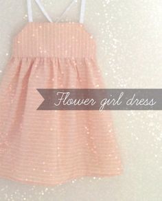 Modern Flower Girl Dress / Minimal Baby girl dress by FiruliFirula, €36.00
