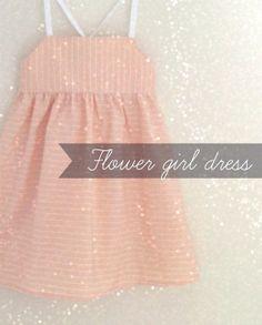 Modern Flower Girl Dress / Minimal Baby girl dress by FiruliFirula, €36.00