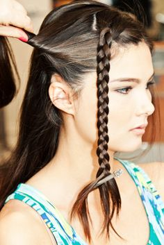 3 DIY 'Dos Perfect For Any Type Of Workout  #refinery29  http://www.refinery29.com/workout-hairstyles#slide26