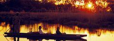 http://www.rhinoafrica.com/botswana/okavango-delta | Enjoy a Mokoro ride on the Okavango Delta