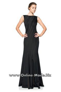 Schwarzes Abendkleid Wanda Bodenlang