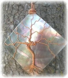 Tree of Life copper wire wrapped Brown by RecycledBeautifully, $28.00