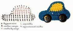 Receita de Crochê Infantil: CARRINHOS DE CROCHÊ PARA APLICAÇÃO