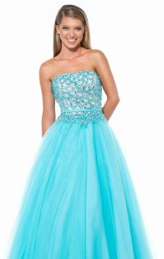 Straight Neck Gown by Terani Couture Prom 151P0085