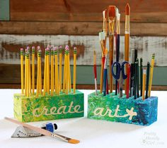 Organize desk and art supplies with these fun and colorful DIY Creative Blocks…