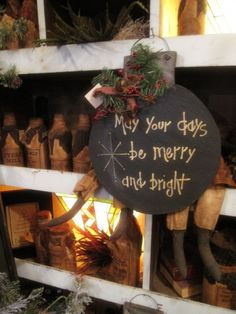 Christmas Blessings- blackboard paint