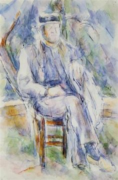 Peasant in a Straw Hat, 1906 - Paul Cezanne - WikiArt.org