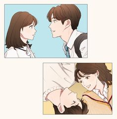Extraordinary You ; Haru , Dan Oh // Rowoon , Kim Hye-Yoon Cute Couple Cartoon, Cute Couple Art, Anime Love Couple, Cute Anime Couples, Cover Wattpad, Arte Indie, K Drama, Manga Drawing Tutorials, Cartoon Kunst